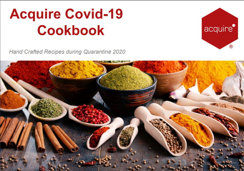 Cookbook cover page with exotic spices