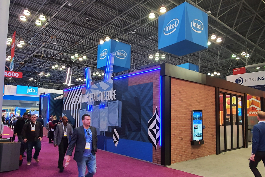 Intel booth at show