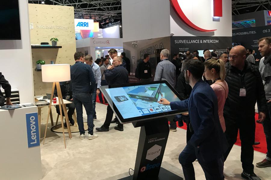 Tradeshow wayfinding and digital directory kiosk