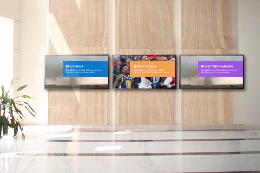 Office Messaging on Digital Signage