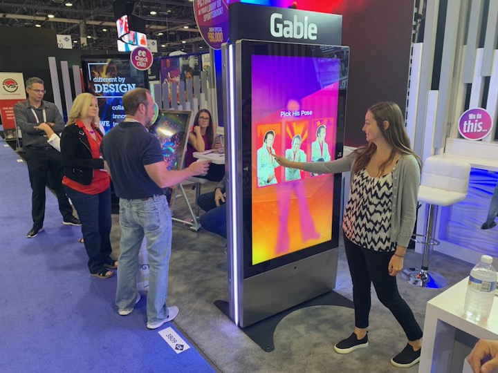 Pose With Elvis Digital Signage In Use
