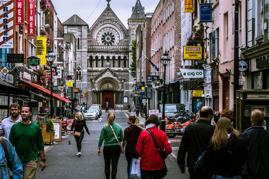 Shopping street in tourist destination