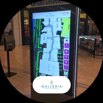 Galleria logo and digital signage