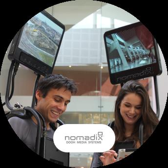 Nomadix digital signage technology and logo
