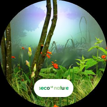 Second Nature Gardens digital signage and logo
