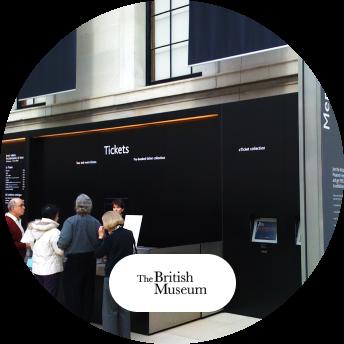 The British Museum digital signage and logo