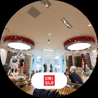 Photo of UNIQLO store and logo
