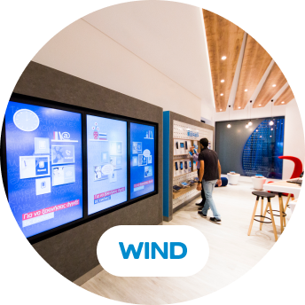 Wind digital signage and logo