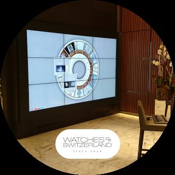 Watches of Switzerland logo digital signage