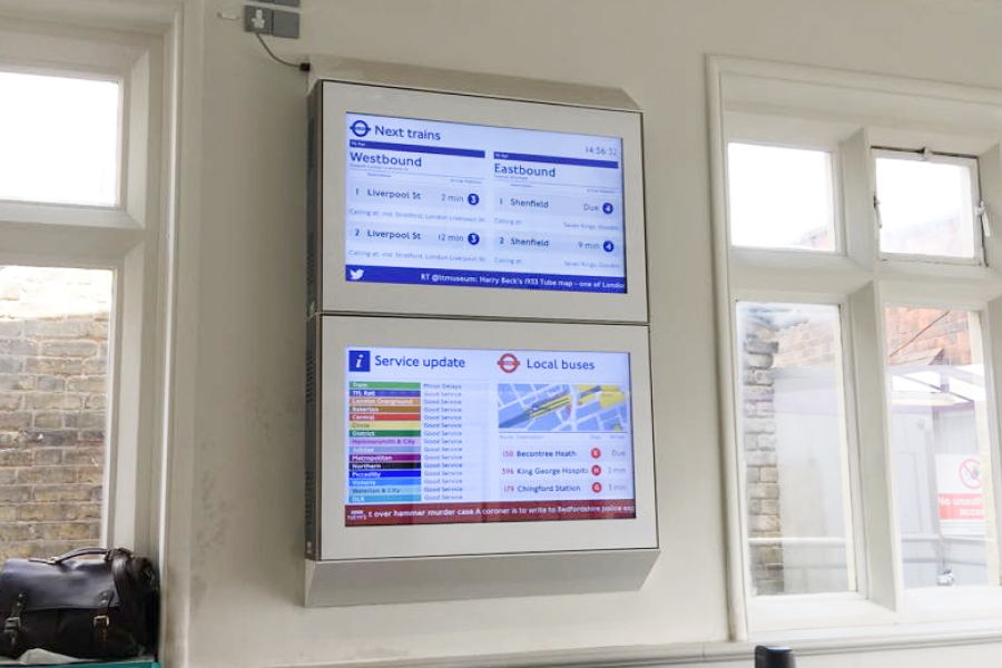 digital signage curated content