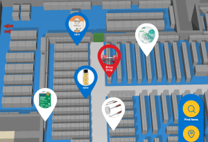 Walmart store mapping software