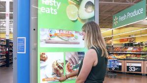Interactive grocery store digital directory kiosk